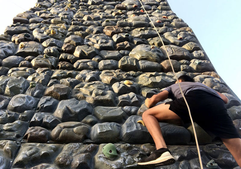 Shrinath Green Valley Rope climb